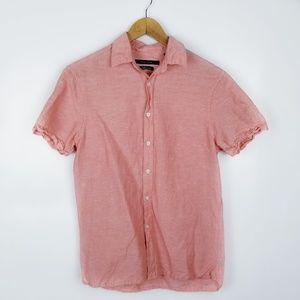 {Perry Ellis} Men's Coral short sleeve top